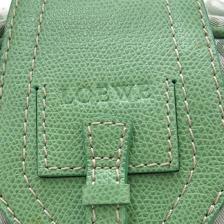 Loewe(로에베) 패브릭 로고장식 그린 래더 사이드포켓 토트백 [강남본점] 이미지4 - 고이비토 중고명품