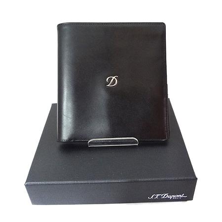 Dupont(듀퐁) 77016 은장 로고 장식 D라인 트레디션 반지갑 [일산매장]