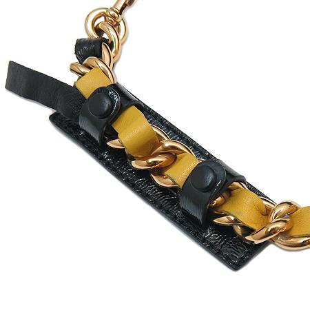 Marc_Jacobs(마크제이콥스) 누빔 블랙 패브릭 멀티 로고 금장 체인 호보 숄더백