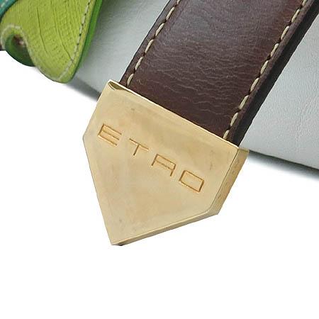 Etro(에트로) 화이트 브라운 래더 버터플라이 멀티 로고 숄더백[부천 현대점] 이미지5 - 고이비토 중고명품