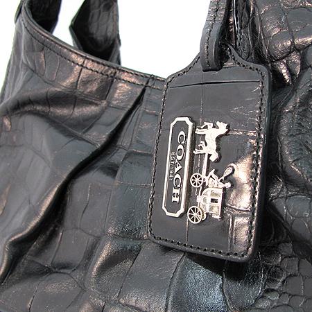 Coach(코치) 14325 메디슨 컬렉션 크로커다일 패턴 블랙 레더 토트백 [강남본점]