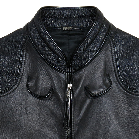 FERRE(페레) 022 3102OT 블랙 램스킨 레이스킨 혼방 남성용 자켓