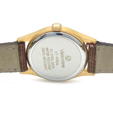 Valentine (발렌타인) 금장 라운드 여성 시계