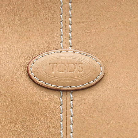 Tod's(토즈) 베이지 레더 쇼퍼 숄더백
