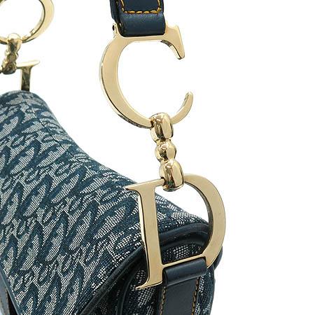 Dior(크리스챤디올) 데님 금장 로고 새들 숄더백