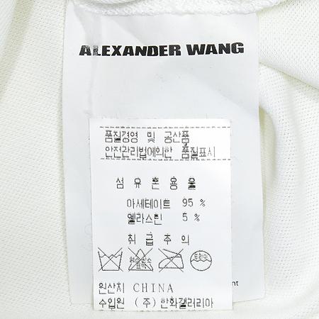 ALEXANDER WANG(알렉산더 왕) 비대칭 카라 반팔 티