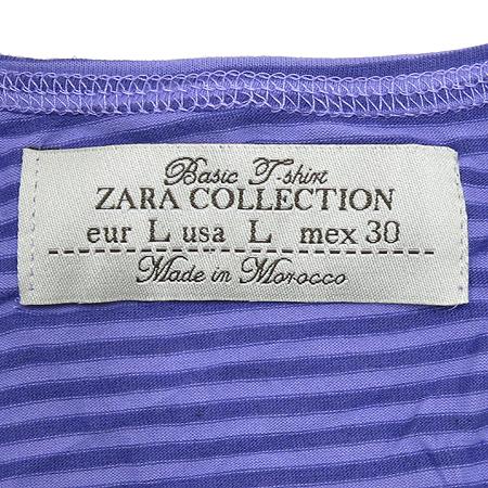 ZARA(자라) 줄무늬 7부 라운드넥 티