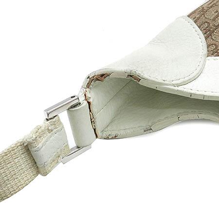Dior(크리스챤디올) 로고패브릭 아이보리 레더 혼방 디오르시모 은장로고 호보 숄더백