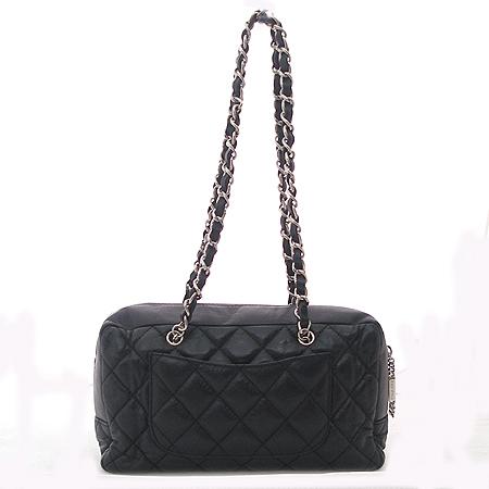 Chanel(샤넬) 블랙 깜봉 짚업 COCO로고 숄더백