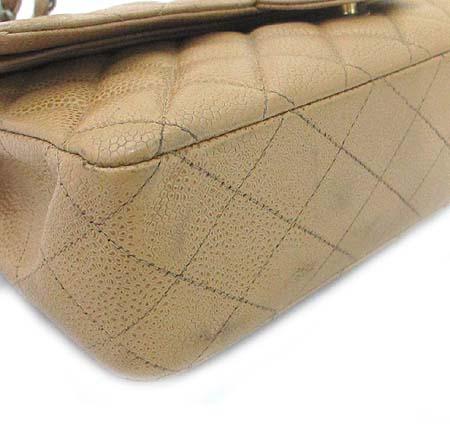 Chanel(샤넬) 캐비어 스킨 클래식 M 사이즈 금장 체인 숄더백 [부산본점]