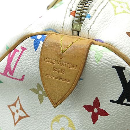 Louis Vuitton(루이비통) M92643 모노그램 멀티 화이트 스피디30 토트백 이미지5 - 고이비토 중고명품