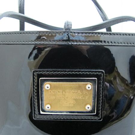 D&G(돌체&가바나) BB1564 A6I99 로고 플레이트 장식 블랙 페이던트 레오파트  라이닝 쇼퍼 숄더백 [인천점]