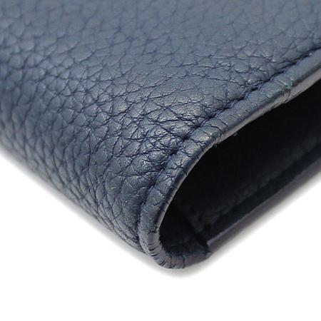 Chanel(샤넬) A68625Y07348 빈티지 COCO 로고 버튼 네이비 레더 장지갑