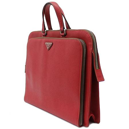 Prada(프라다) VR0023 레드 사피아노 삼각 은장로고 짚업 서류가방 이미지3 - 고이비토 중고명품