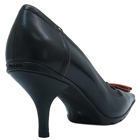 Prada(프라다) 블랙 래더 펌프스 여성용 구두