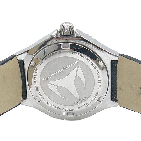 TechnoMarine(테크노마린) 12 포인트 다이아 자개판 베젤 두 줄 다이아 여성용 시계