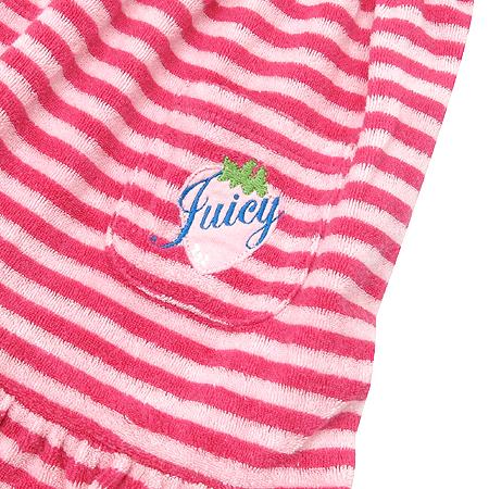 JUICY COUTURE(쥬시 꾸뛰르) 아동용 스트라이프 패턴 반팔 원피스