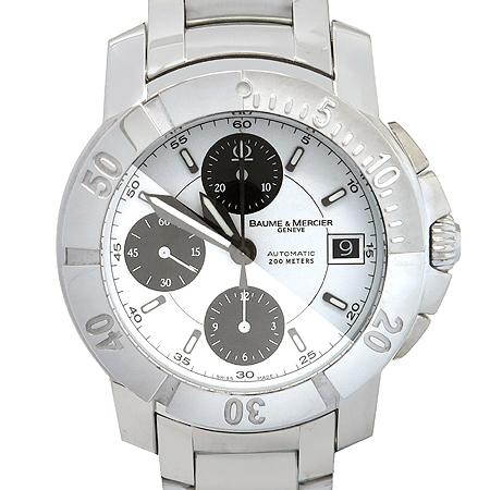 Baume&Mercier(보메메르시에) CAPELAND (케이프랜드) 크로노그래프 오토매틱 스틸 밴드 남성용 시계
