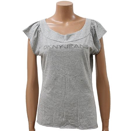 DKNY(도나카란) 큐빅 장식 민소매 티