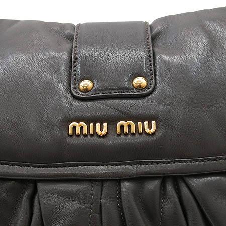 MiuMiu(미우미우) RR1300 N88  램스킨 나파 금장로고 PATTINA 파티나 2WAY [명동매장]