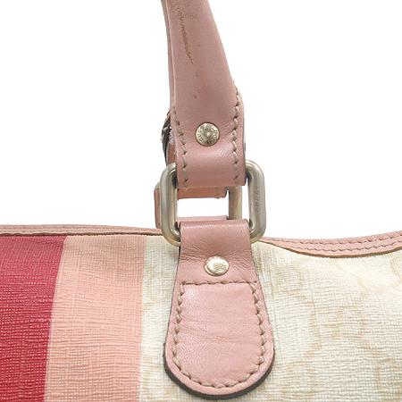 Gucci(구찌) 189895 삼색 스티치 GG로고 PVC 보스톤 토트백