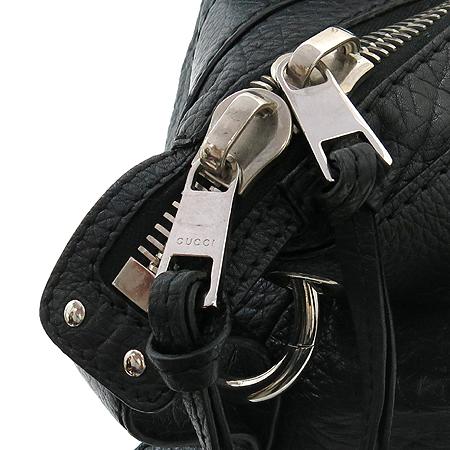 Gucci(구찌) 232959 블랙레더 뱀부장식 은장로고 숄더백