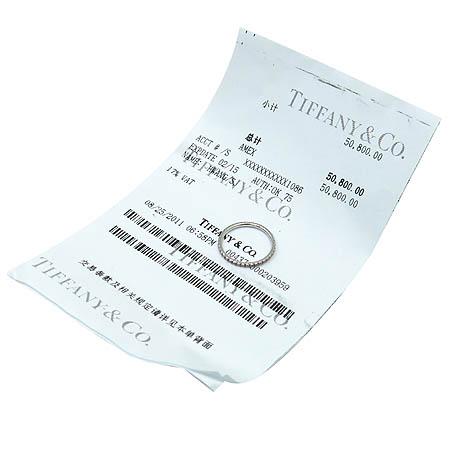 Tiffany(티파니) 23834928 18K 화이트 골드 라운드 다이아 사파이어 장식 메트로 반지-10호