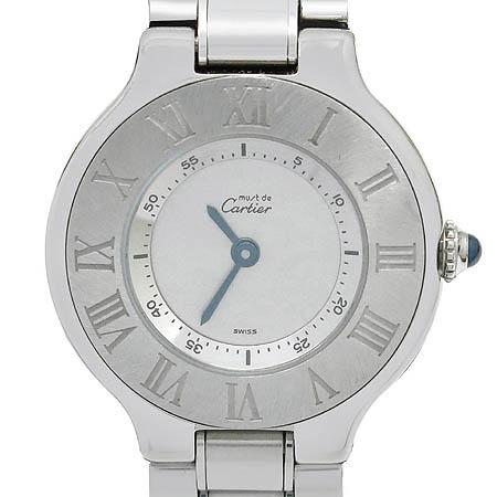 Cartier(까르띠에) W10109T2 21세기 스틸 쿼츠 여성용 시계