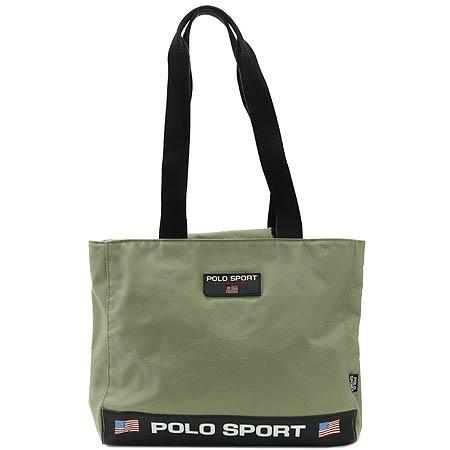 Polo Sport(폴로 스포츠) 이니셜 장식 패브릭 쇼퍼 숄더백