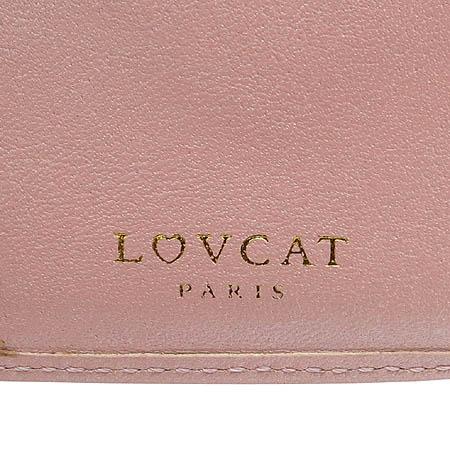 LOVCAT(러브캣) 하트 로고 장식 에나멜 중지갑
