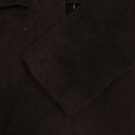 MICHAA(미샤) 알파카 혼방 후드 반코트(배색:토끼털)