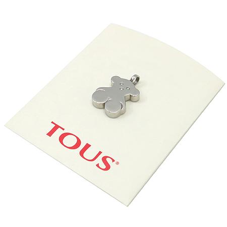 TOUS(토스) 다이아 3포인트 곰돌이 스틸 팬던트