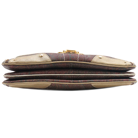 Etro(에트로) 16476  멀티 페이즐리 PVC 크로크다일패턴 금장로고 숄더백 [명동매장]
