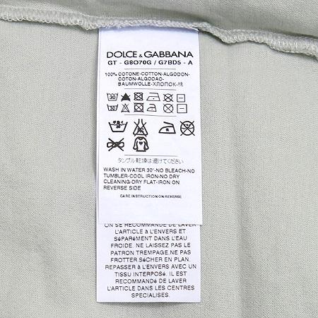 DOLCE & GABBANA(돌체&가바나) 파나마 프린트 V넥 반팔 티 [동대문점] 이미지4 - 고이비토 중고명품