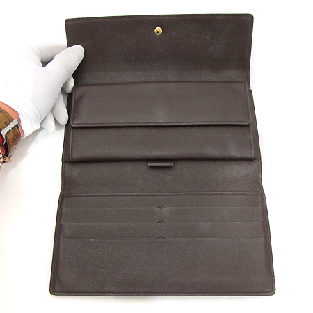 Louis Vuitton(루이비통) N61217 다미에 에벤 캔버스 포트트레소 인터내셔날 장지갑