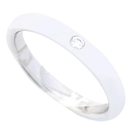 Tiffany(티파니) PT950 플래티늄 1포인트 다이아 웨딩 반지