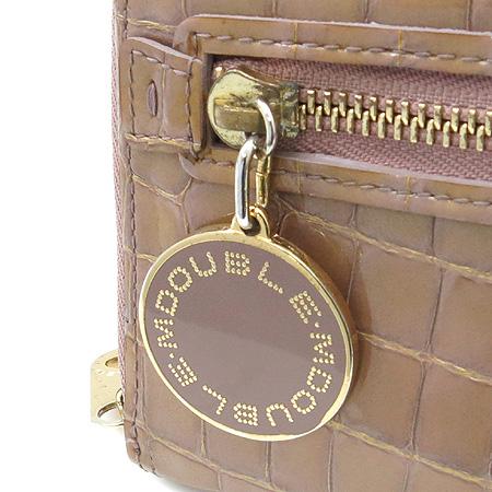 DOUBLE M(더블엠) 크로커다일 문양 에나멜 짚업 장지갑 + 체인 숄더 스트랩