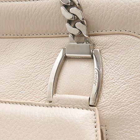 Cartier(까르띠에) 은장 로고 아이보리 래더 체인 숄더백 [동대문점]