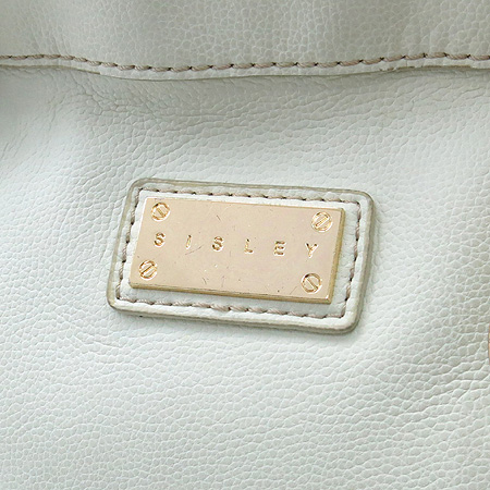 Sisley(시슬리) 금장 로고 장식 레더 토트백 + 숄더 스트랩