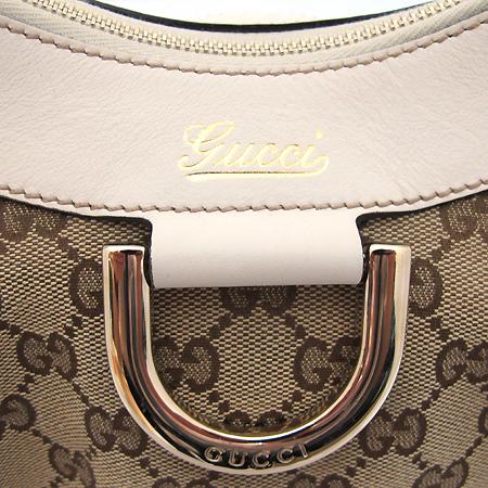 Gucci(구찌) 190525 GG로고 자가드 아이보리 레더 금장 D링 장식 숄더백 [부천 현대점] 이미지4 - 고이비토 중고명품