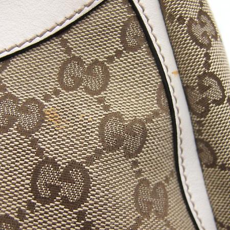 Gucci(구찌) 190525 GG로고 자가드 아이보리 레더 금장 D링 장식 숄더백 [부천 현대점] 이미지5 - 고이비토 중고명품