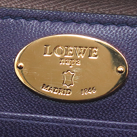 Loewe(로에베) 참장식 레더 카드 겸 동전지갑