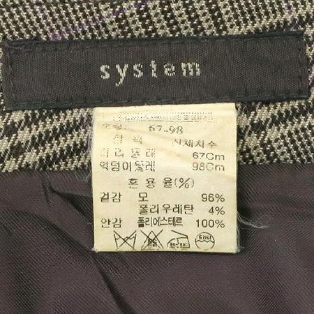 System(시스템) 체크패턴 7부 바지