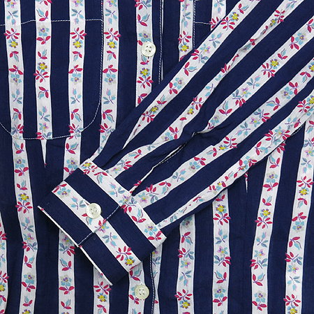 Cacharel(까사렐) 플라워& 스트라이프 패턴 브라우스