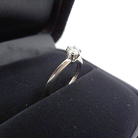 Tiffany(티파니) PT950(플래티늄) 0.28CT(캐럿) H컬러 VS1 다이아 웨딩 반지 - 6호 [일산매장]
