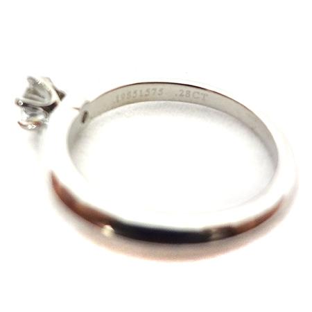 Tiffany(티파니) PT950(플래티늄) 0.28CT(캐럿) H컬러 VS1 다이아 웨딩 반지 - 6호 [일산매장] 이미지4 - 고이비토 중고명품