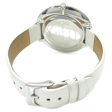 FOCE(포체) F367LS 라운드 가죽 밴드 자개판 여성용 시계