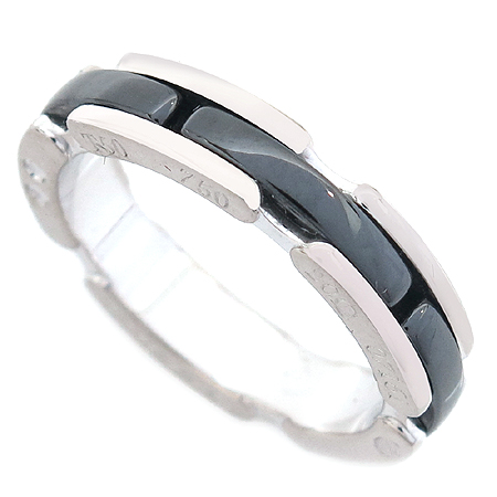 Chanel(샤넬) J3092 18K 화이트골드 블랙 세라믹 울트라 반지 [명동매장]