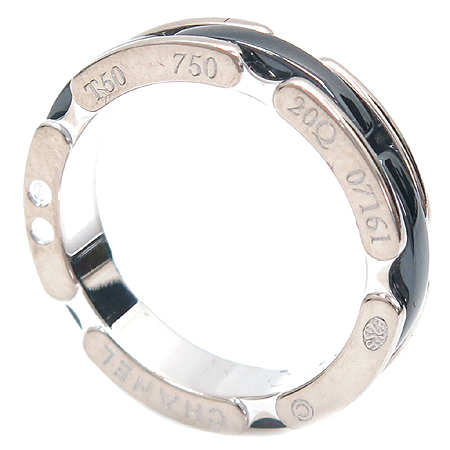 Chanel(샤넬) J3092 18K 화이트골드 블랙 세라믹 울트라 반지 [명동매장] 이미지3 - 고이비토 중고명품
