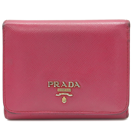 Prada(프라다) 1M0176 사피아노 금장 로고 3단 반지갑